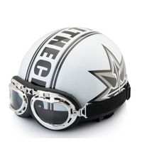 Hot Sale Unisex New Vintage Motorcycle Helmets Open Face Half Motorbike Goggles Visor Helmet Capacete Motocicleta
