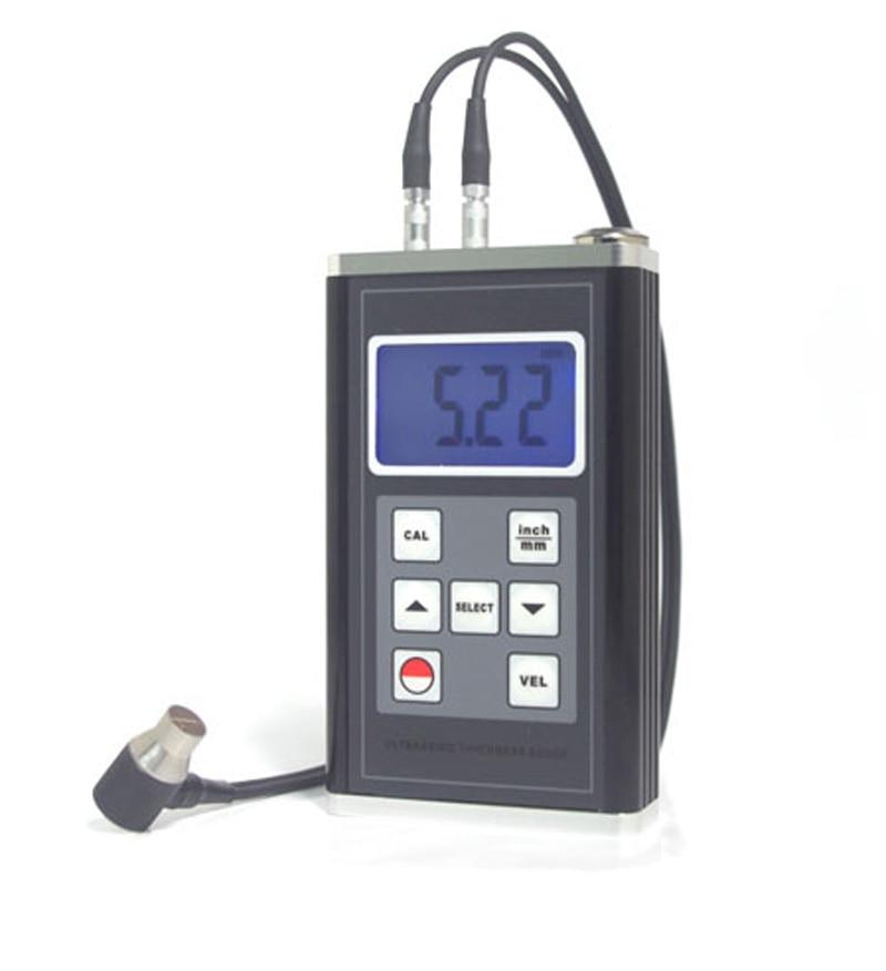 Messung Und Analyse Instrumente Stahl/kunststoff/glas/keramik Digitalen Ultraschall Dickenmessgerät Bereich Physikalische Messgeräte 0,9 ~ 400mm Platte Dicke Kostenloser Versand