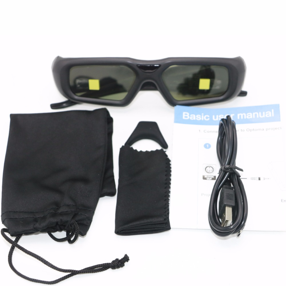 цена на 1set Active 2.4G bluetooth RF 3D Shutter Glasses ZF2300 Only For Optoma VESA Projector HD26/3DW1/HD33/HD25/HD25E With 3D SYNC