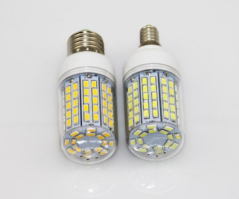 100X lumière LED Ultra lumineux E14 E27 lumière LED ampoules maïs ampoule 30 W SMD 5730 avec couvercle 96 LED blanc chaud blanc froid 110 V/220 V