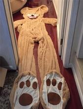 Super Colossal Teddy Bear juguete de felpa Enorme Oso Americano 133.86 pulgadas 340 CM smileTactic regalo de cumpleaños productos semi-acabados casco