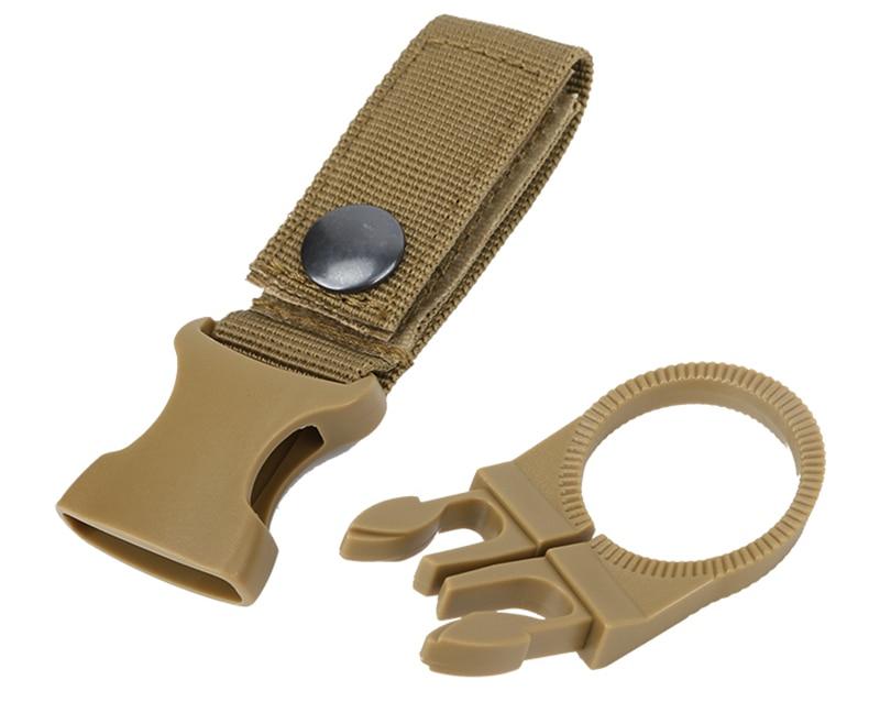 Outdoor military Nylon Webbing Buckle Hook Water Bottle Holder Clip EDC Climb Carabiner Belt Backpack Hanger Camp (19)