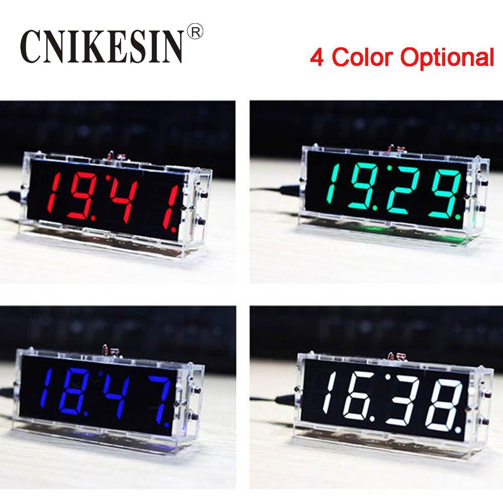 CNIKESIN DIY Digitaluhr Suite Sprachzeitmessung Uhr Teile LED DIY elektronische uhr Mit sprach broadcast (farbe optional)