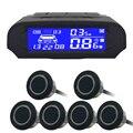 6/NY8080 sensores Car Kit Display LCD Sensor de Aparcamiento para todos los coches aparcamiento detector de ayuda al aparcamiento sensor de aparcamiento