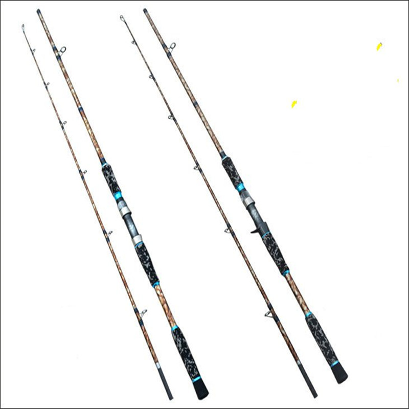 Camouflage 2 1m CASTING Spinning Fishing ROD XH Power EVA Handle Carbon Fiber Lure Fishing Rod