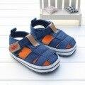 Baby first walkers baby shoes sandálias fundo macio do bebê da lona shoes para meninos