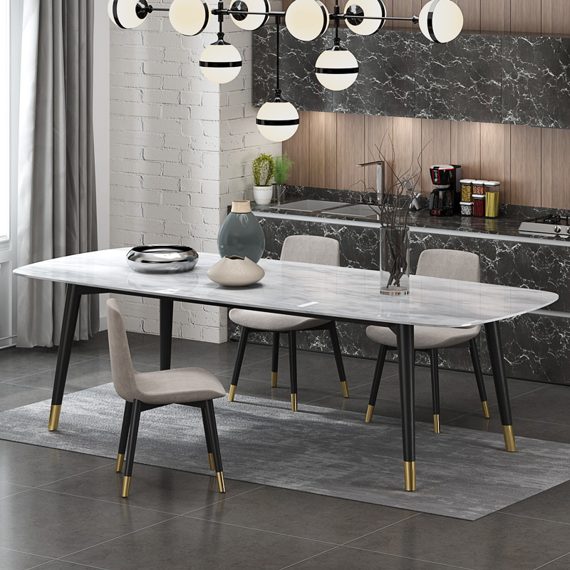 1.6-2.0 M Long Kitchen Artificial Marble Dining Table  CE-FD02