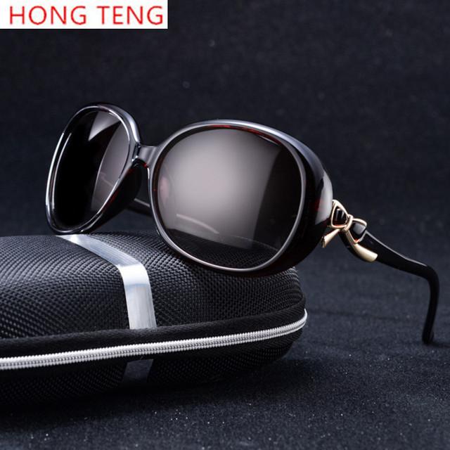 Hong teng new arrivals diseñador de la marca de alta calidad de dicha cantidad de la rana espejo mujeres gafas de sol con la caja envío gratis