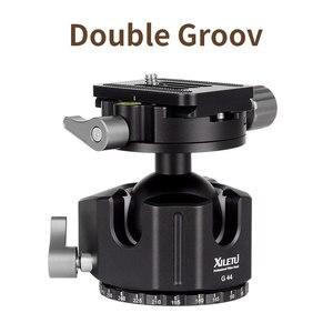 Image 2 - XILETU G 44 Camera Aluminum Alloy tripod ball head 360 Degree Panorama Ballhead with Quick Release Plate for ARCA SWISS