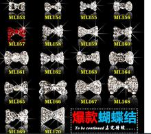 MIX Design 100pcs New 3D Silver/Red Alloy Rhinestone Bow Tie Nail Art Decoration DIY Charm Jewelry Accessories ML153-ML170