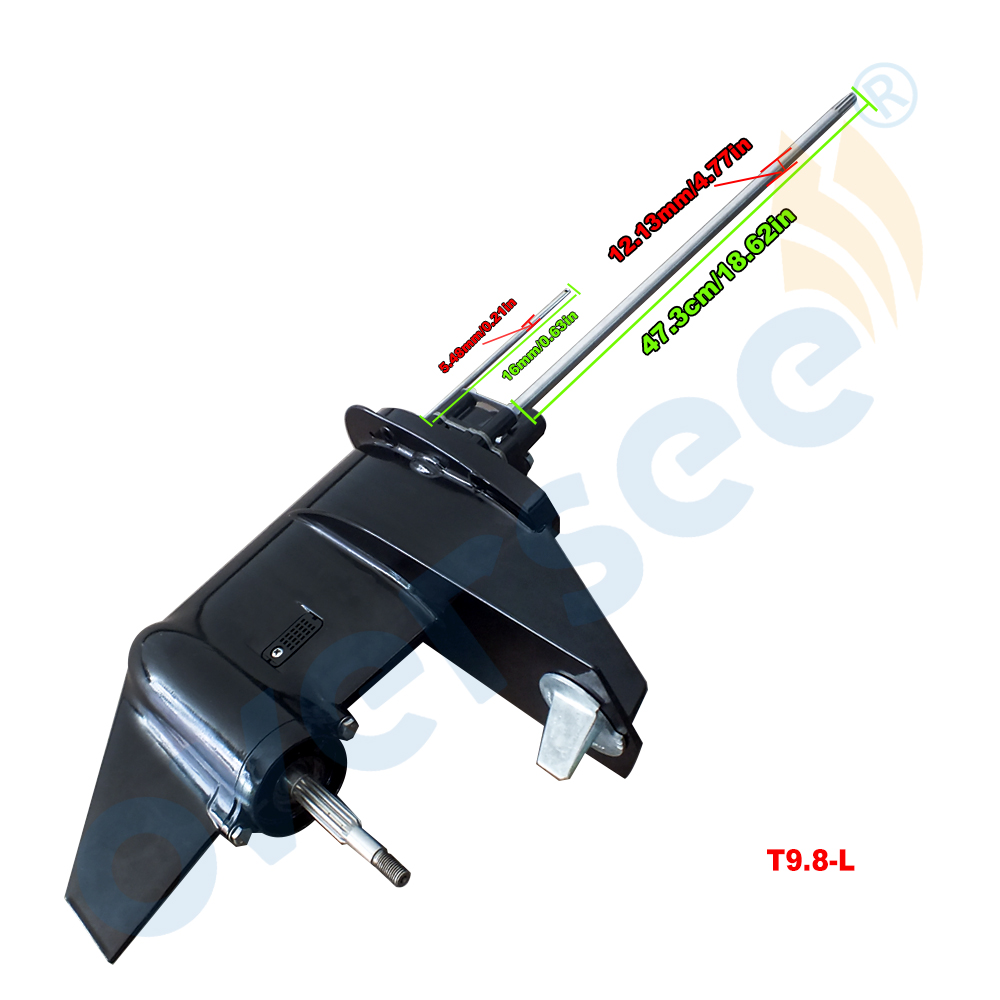 3B2S87302-0 Gear Box Assy Lower Unit Assy with LONG Shaft For Tohatsu 9.8HP 8HP 2 Stroke Outboard Engine Boat Motor Parts