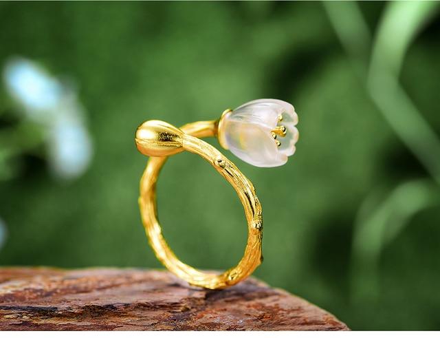 Natural Crystal Handmade Fine Flower Ring8