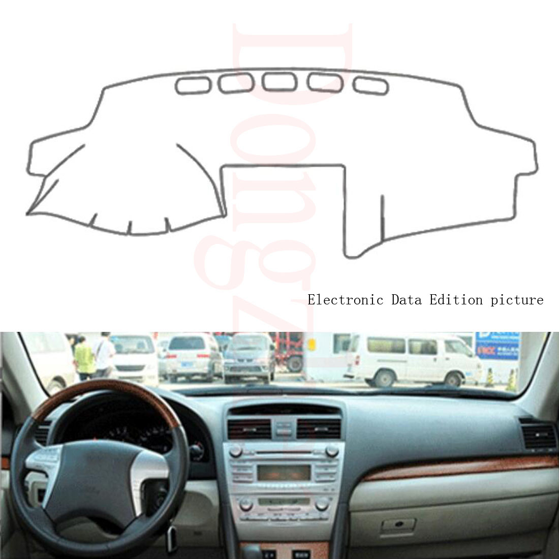 dongzhen fit for toyota camry 6th 2006 2011 car dashboard cover avoid light p. Black Bedroom Furniture Sets. Home Design Ideas