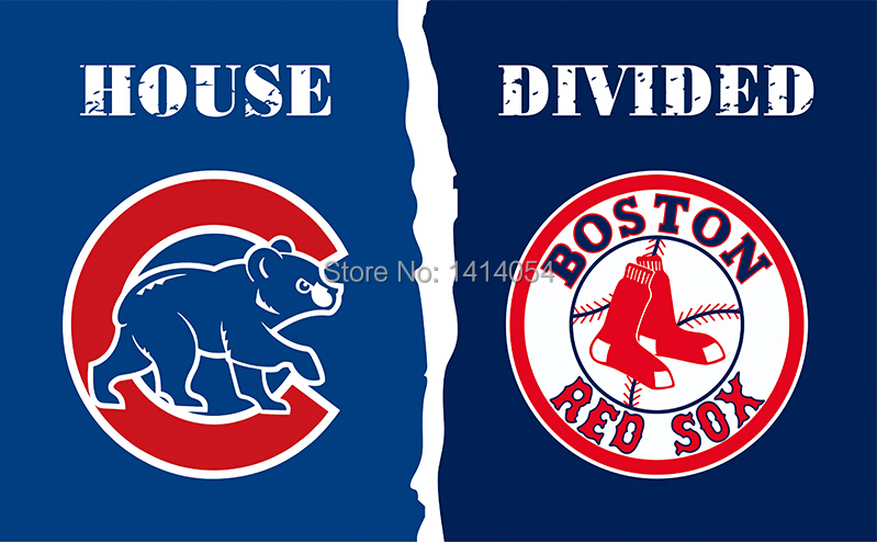 Chicago Cubs Boston Red Sox House Divided FLAG 150X90CM NCAA 3X5FT Banner 100D Polyester grommets custom009,