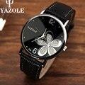 YAZOLE женские часы топ роскошные известная марка наручные часы мода досуга часы masculino reloj женщины кварцевые часы