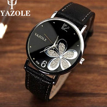 Mujeres del reloj de la famosa marca de lujo superior relojes YAZOLE moda ocio reloj reloj masculino mujeres reloj de cuarzo