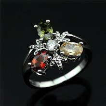 The new han edition 925 pure silver inlay zircon ring Birthday gift jewelry Character charm female ring j556