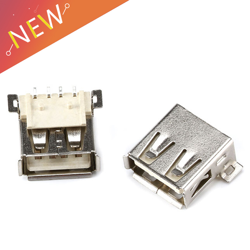 10pcs USB Female Seat AF SMD Connector Full SMD Big 4PIN Type A Mother A