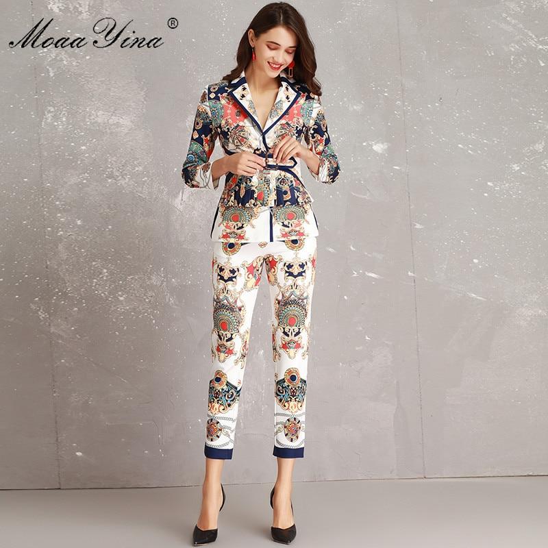 Supérieure Moulant Qualité 4 Ceinture Printemps Ruché Pantalon Femmes Imprimer Twinset Coloré Moaayina Multi 3 Blazer Géométrie Costume Scénographe w6RqCCI