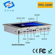 15 «безвентиляторный промышленный компьютер с сенсорным экраном промышленная панель ПК Intel celeron j1900 процессор 4G ram сенсорный экран все в одном ПК