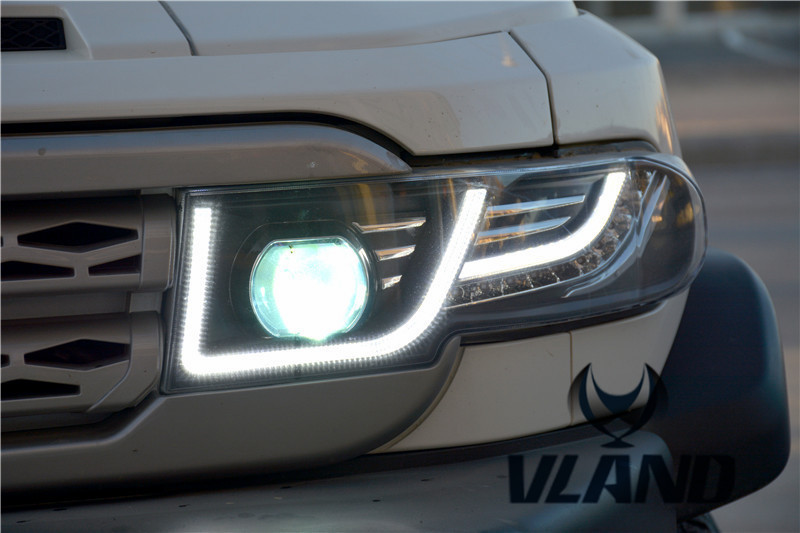 Free shipping Vland Car Lamp for Toyota FJ Crusier LED Headlight+middle Grill LED Headlamp Fit for Year Model 2007-2015 free shipping vland car lamp for toyota