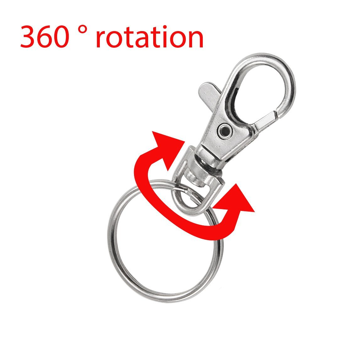 20 Small Removable Screw Caps For Key Rings - Carabiner Key Chain - Cosmetics & Jewelery