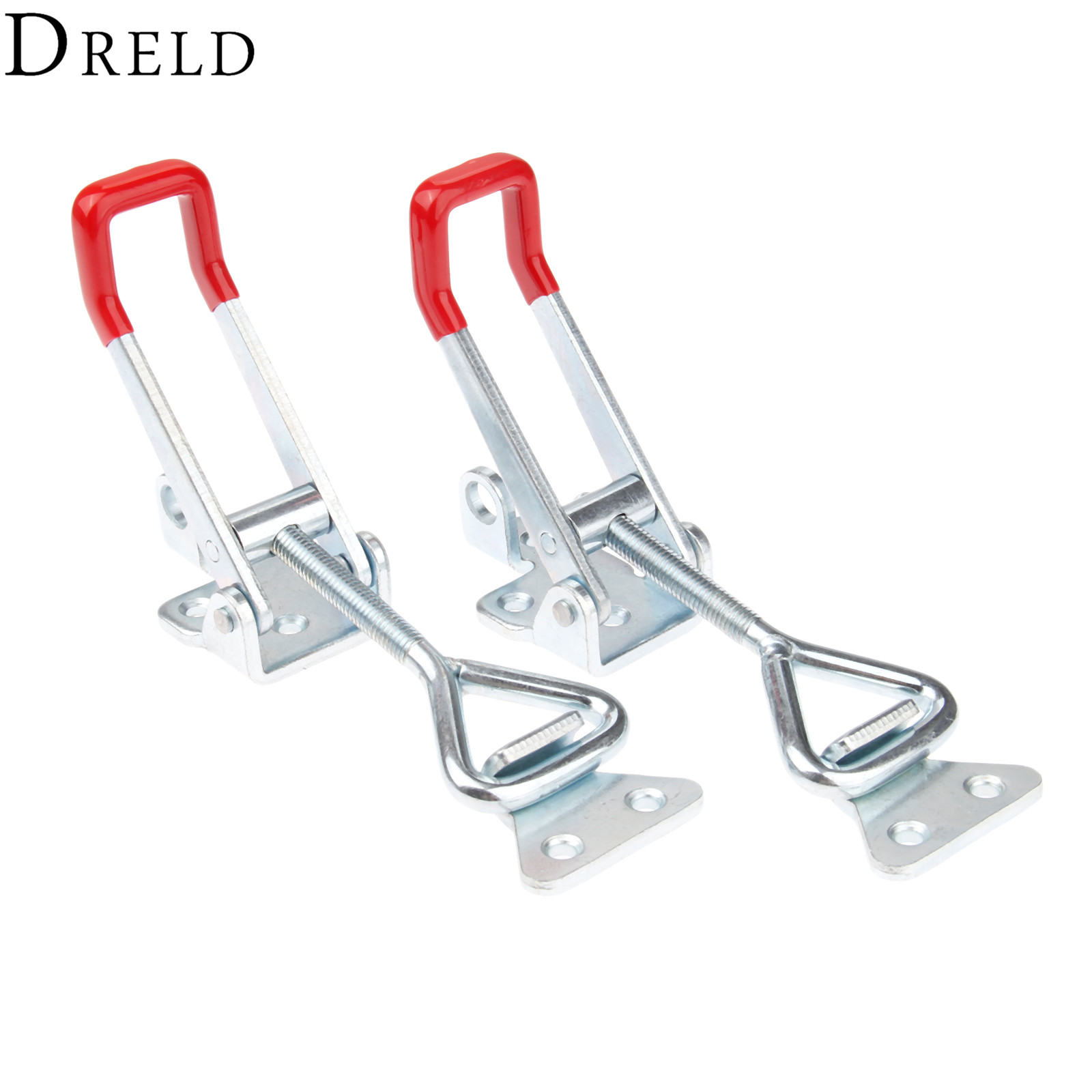 DRELD 2pcs GH-4003 Parighasana Toggle Clamp Clip 300KG/661Lbs Holding Capacity Quick Metal Latch Hand Tool Fixture Clamp
