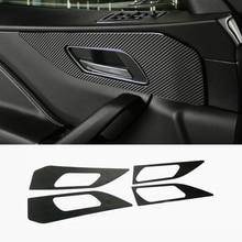 Автомобильные аксессуары интерьера дверь handshandle углеродного волокна крышка стикера автомобиль-Стайлинг для JAGUAR F-Темп X761