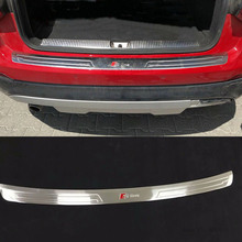 AITWATT Подходит для Audi Q2 автомобильные аксессуары из нержавеющей стали внешний задний бампер Защитная крышка Накладка 1 шт