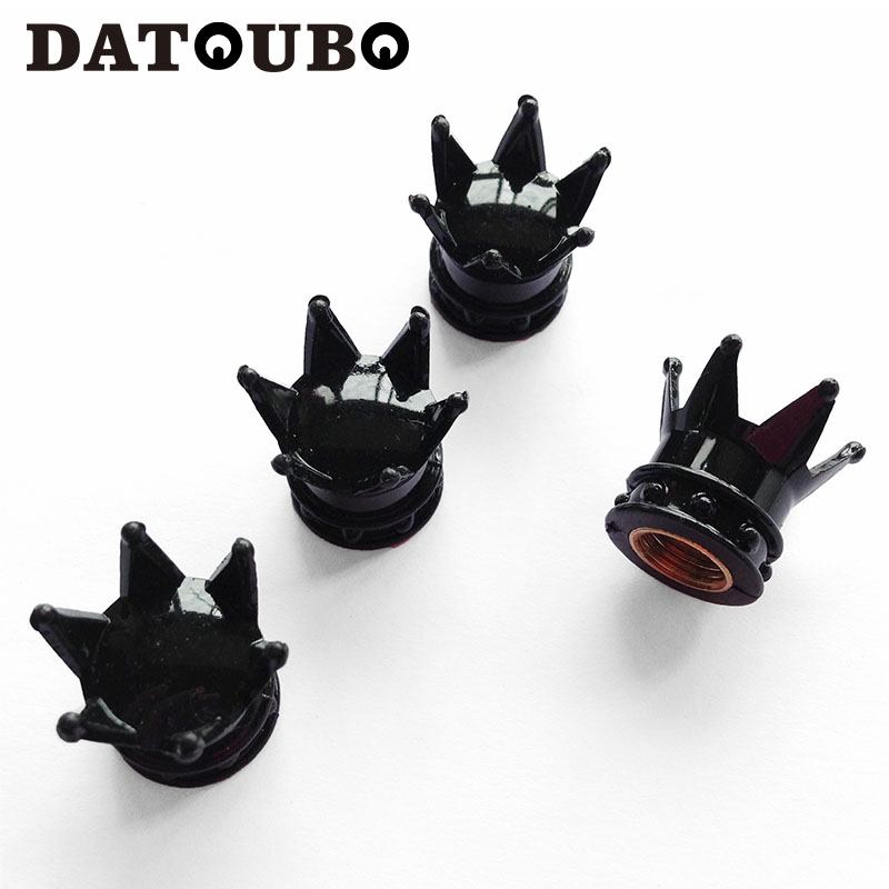 datoubo  pcs novelty crown design car tire valve capsgoldchrome pink color crown car tyre