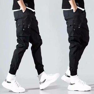 Image 5 - ヒップホップ男性 Pantalones やつ高ストリート Kpop カジュアルカーゴパンツ多くポケットジョギング Modis ストリートズボン原宿