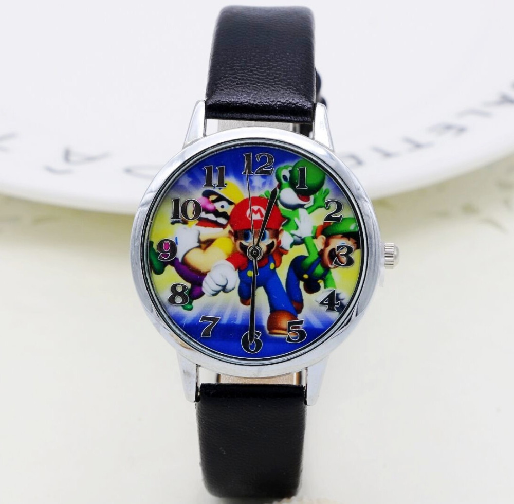 2019 Super Mario Luigi Watch Quartz Kids Sports Fashion Cartoon Watch Wristwatch Boy Students Christmas Relogio Gift Watch