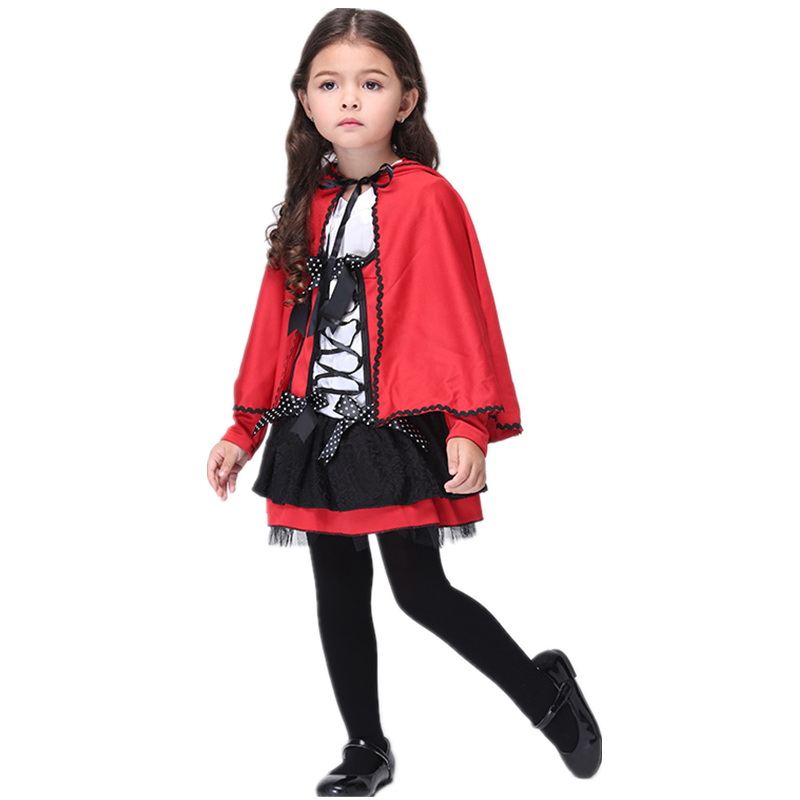 Halloween Costumes Little Red Riding Hood Costume Kids Girls Age 3 11 Y/O Red Hooded Cape and Dress-in Girls Costumes from Novelty u0026 Special Use on ...  sc 1 st  AliExpress.com & Halloween Costumes Little Red Riding Hood Costume Kids Girls Age 3 ...