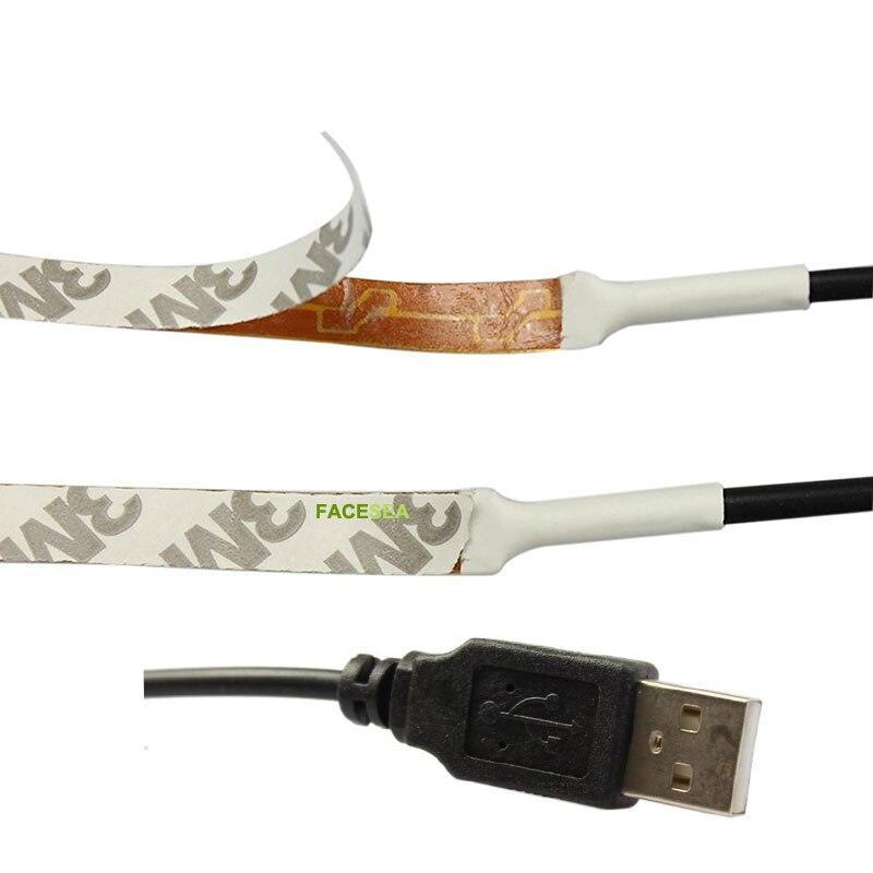 USB LED Strips DC5V 3528 SMD Non Waterproof 50CM/1M/2M 60pcs/m Flexible Ribbon tape lamp TV backlight