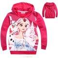 Baby girl sudaderas con capucha escudo 2016 Elsa y Anna ropa chaqueta outwear Primavera Otoño ropa de bebé de manga Larga sudaderas