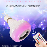 OnlyVogue Portable Wireless Bluetooth Speaker 12W RGB LED Bulb E27 Smart Light Music Player With Remote