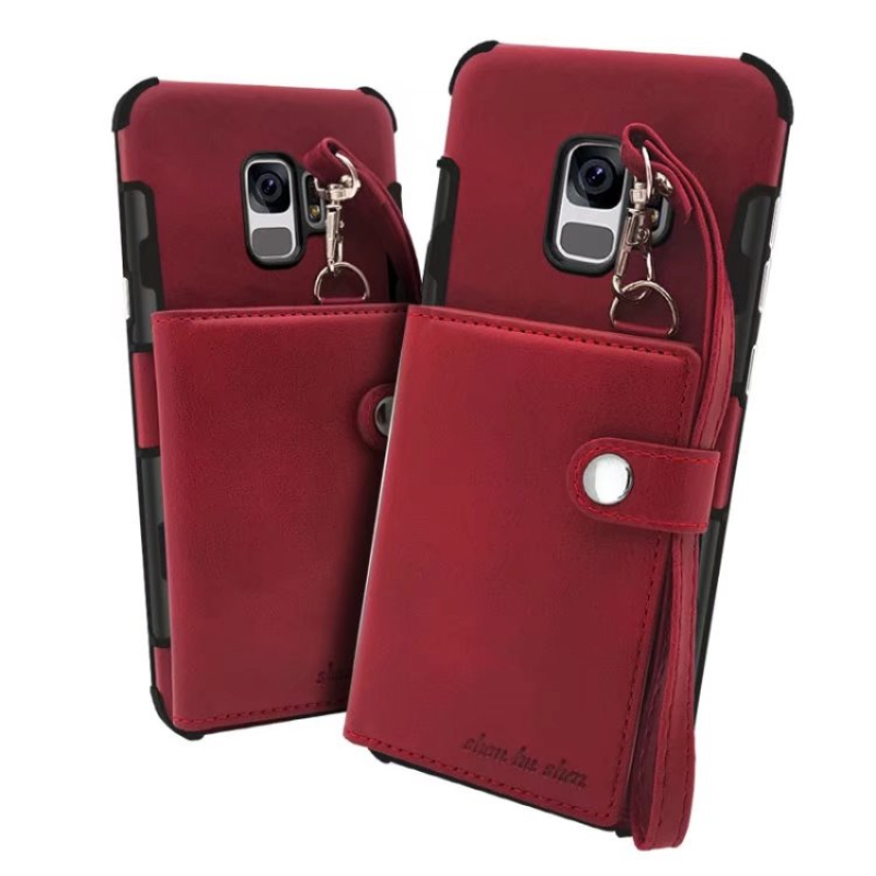 TANZ Flip Case For Samsung Galaxy S8 S9 Plus note 8 note8 PU Leather Lanyard Phone Bags Cases For iphone 6 6s 7 8 X Plus Cover