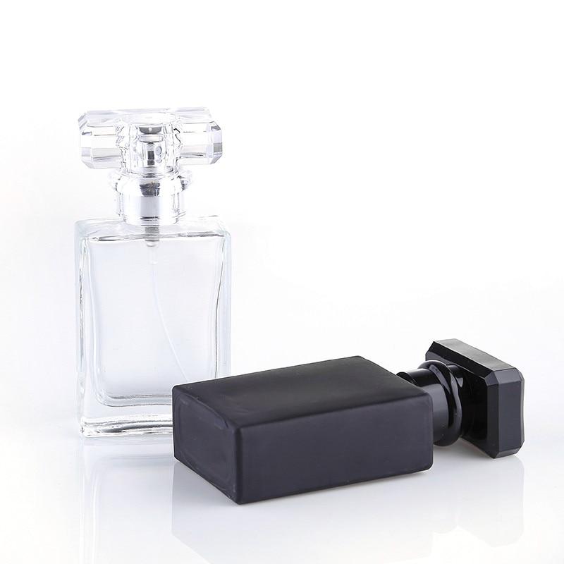 Wholesale Retial 30ml Big Capacity Black Perfume Bottles 30pcs/lot Clear Travel Spray Perfume Glass Bottles