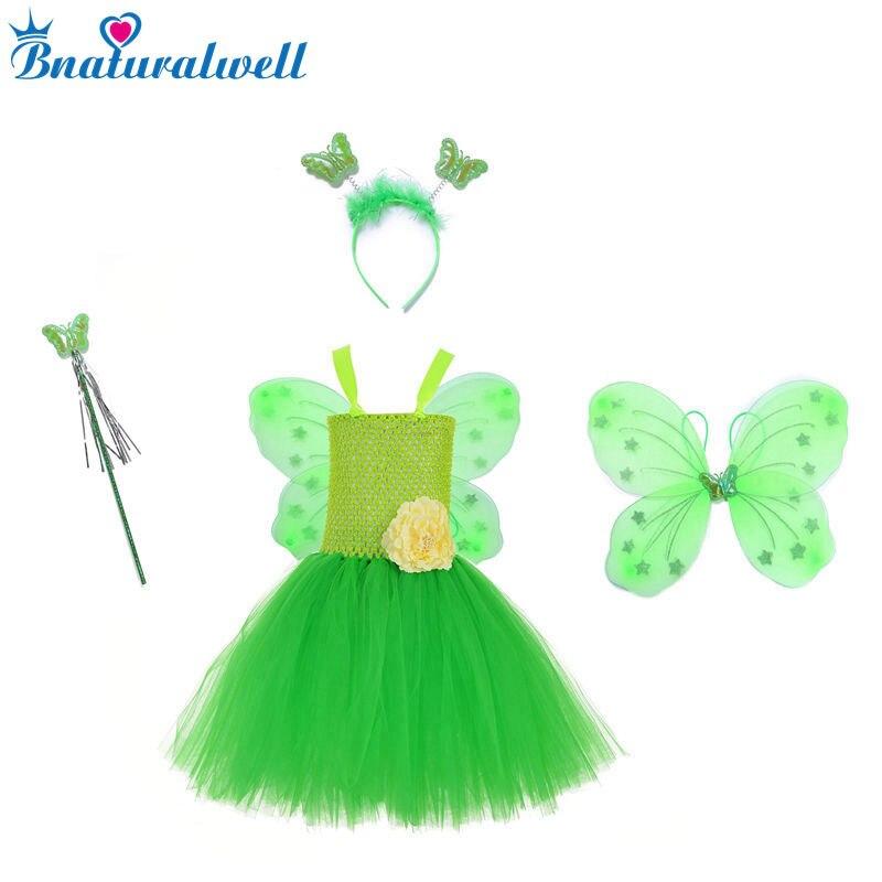 VESTITO DALLA principessa Tinkerbell Tutu Del vestito Di Compleanno Costume speciale Occasione Fata Verde Della Principessa Tutu servizio Fotografico AA041K