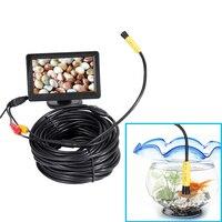 5V/12V 10mm Len AV Waterproof Endoscope Mini Camera 1m/5m/10m/15m/20m Flexible Snake Pipe Inspection Inspection Endoscope Camera