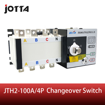 цена на Jotta 100Amp 220V/ 230V/380V/440V 4 Pole 3 Phase Automatic Transfer Switch Connect Generator Changeover Switch