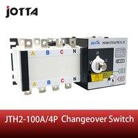 Jotta 100Amp 220V/ 230V/380V/440V 4 Pole 3 Phase Automatic Transfer Switch Connect Generator Changeover Switch