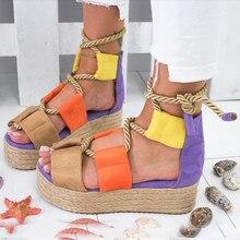 Summer Fashion Ladies Sandals Wedge Flat Beach Shoes High Heels Platform Sandals high heels summer sandals women shoes summer