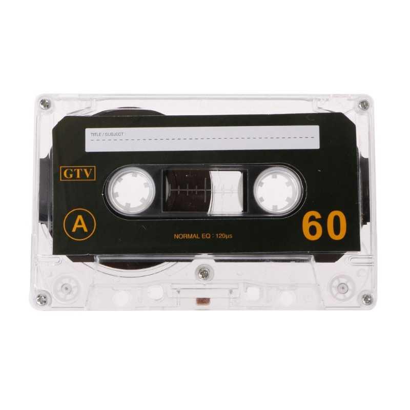 標準カセットブランクテープ空 60 分オーディオ録音音声音楽プレーヤードロップシッピングのサポート