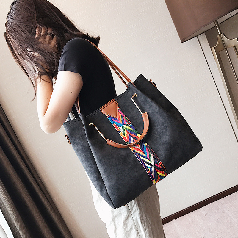 071932034d7 ADIYATE Womens Bags Patchwork Handbag Socialite Shoulder Technicolor  Fashion bolsas feminina O Bag Large Tote Handbag Leather-in Shoulder Bags  from Luggage ...