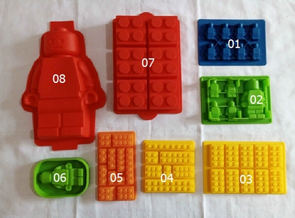 1pcs Diy Silicone Lego Brick Minifigure Ice Mold Ice Tray