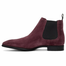 Top Quality Vintage Pointed Toe Men Casual Shoes Genuine Leather Cowhide Dress Party Ankle Chelsea Boots Kanye West Shoes