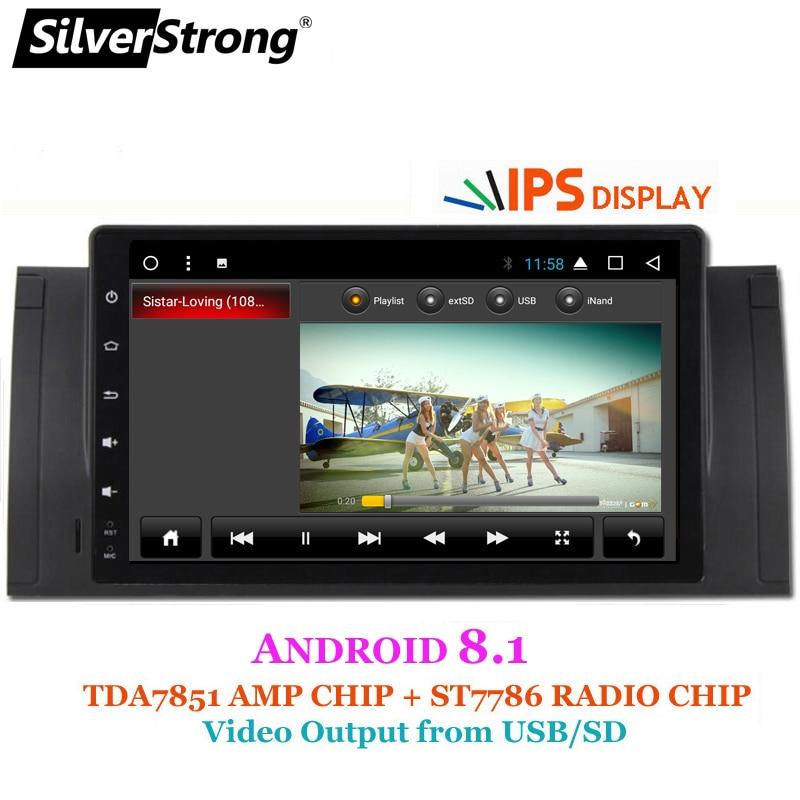SilverStrong Android9inch GPS naviguer autoradio lecteur DVD pour BMW E53 X5 E39 M5 avec Bluetooth RDS Canbus - 2