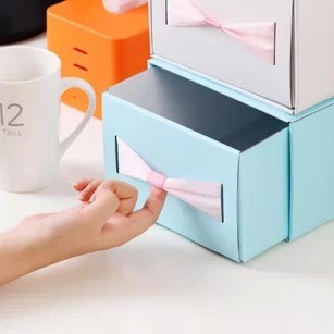 Home Organizer Bowknot DIY Folding Corrugated Cardboard Storage