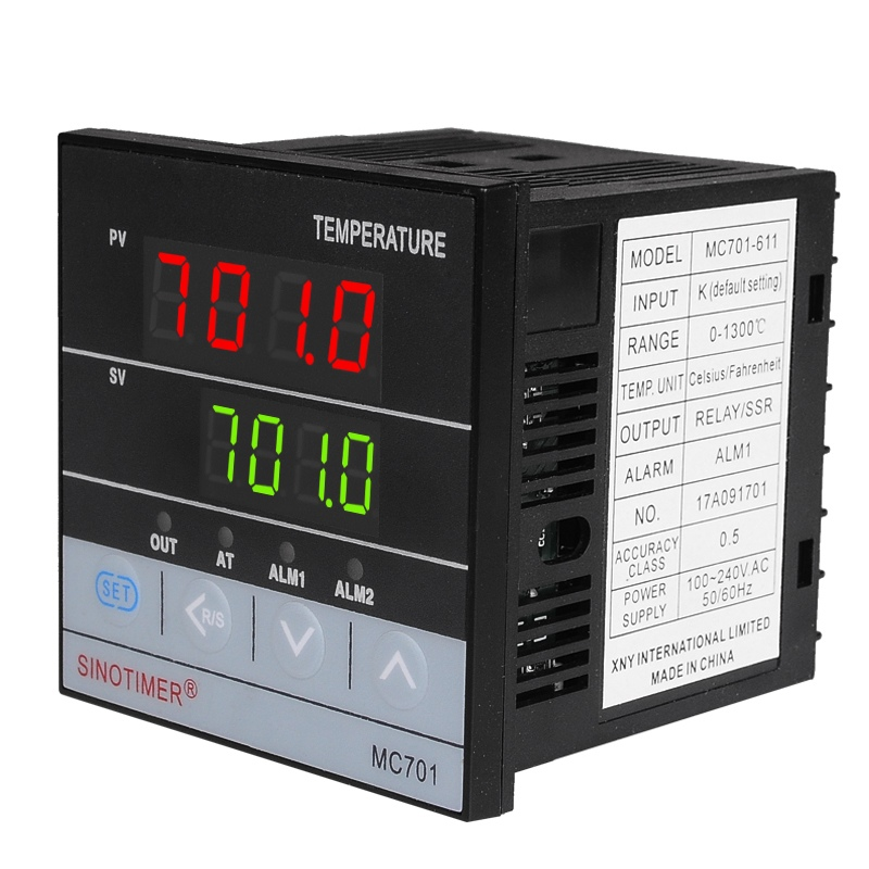 Universal Input Temperature Controller PT100 K Thermocouple Digital PID SSR Relay Output Heat With Alarm Fahrenheit Short Shell